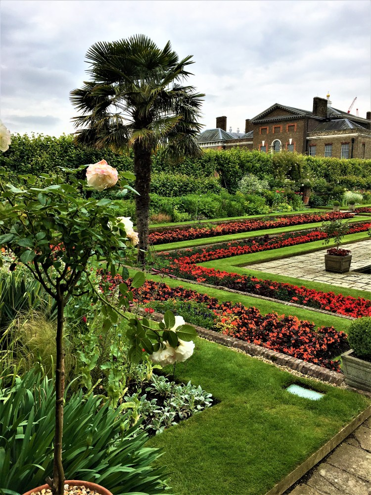 Kensington Palace Gardens: The sunken garden, summer 2019