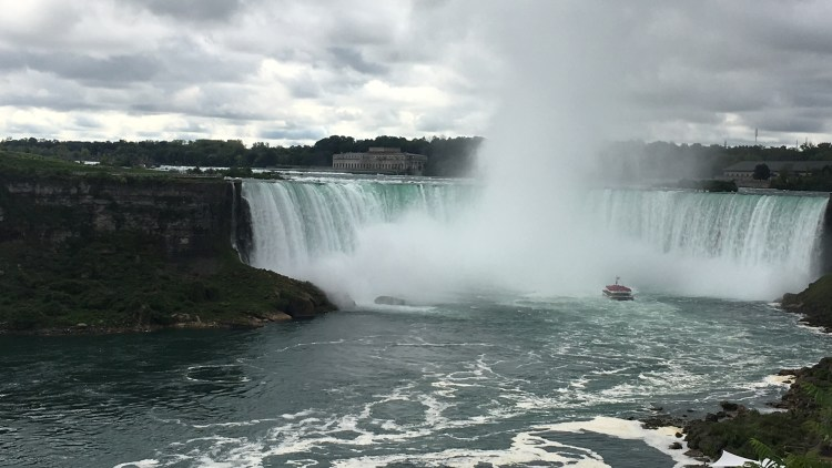 The Hornblower Cruise up-close and personal to the Horseshoe Falls.