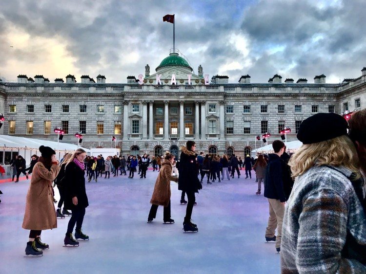 Christmas in London Magical Ice Skating Rinks | The most beautiful ice rink in London is at Somerset House