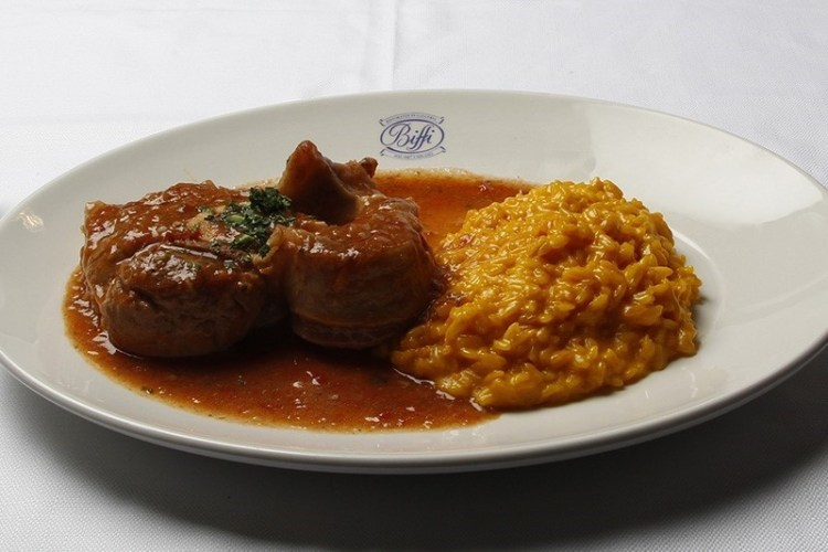 Biffi Galleria - Veal ossobucco and risotto