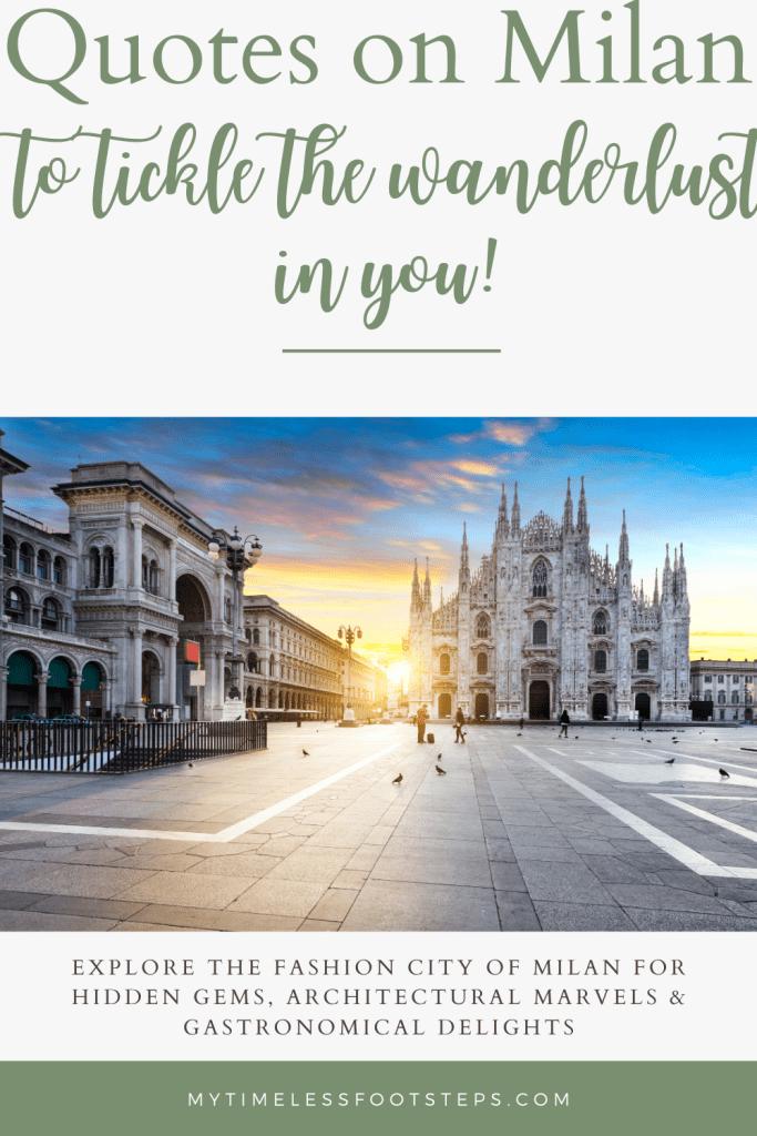 Pin on Quotes on Milan