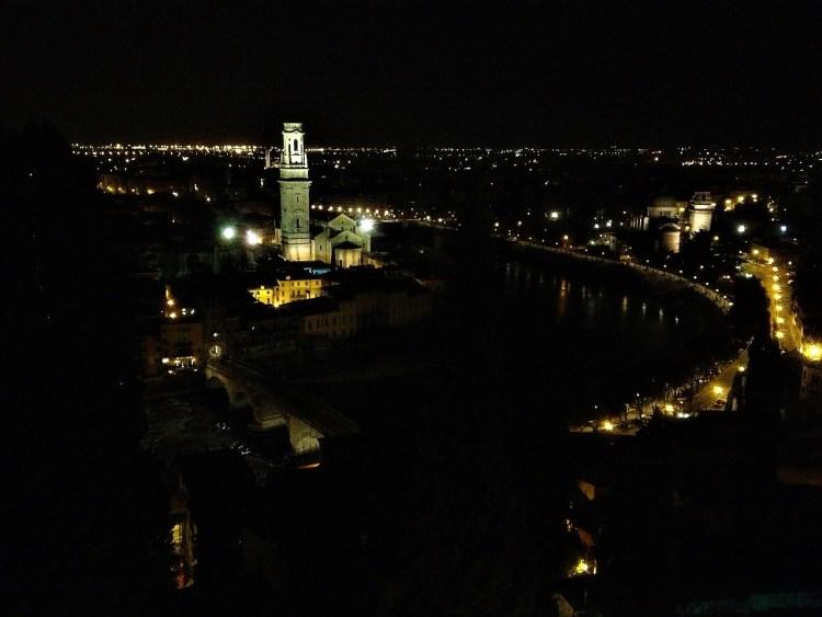 night time view of verona