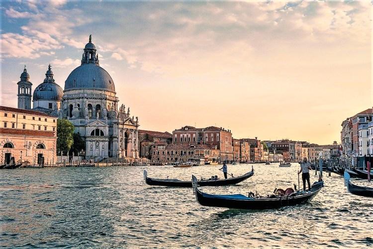 Gondola ride.Venice