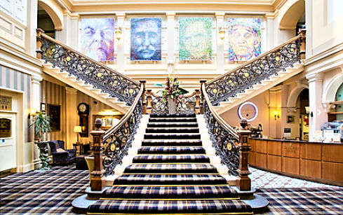 Grand staircase at the The Royal Highland Inverness | Top 5 hotels to stay in Inverness City Centre