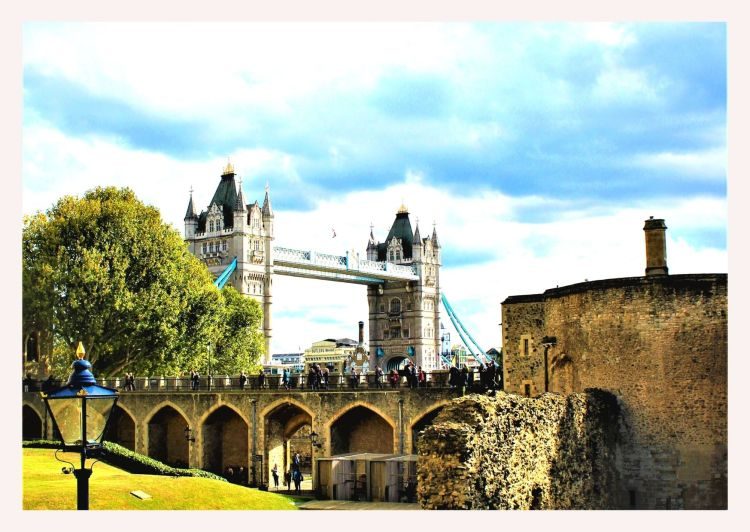 View of Tower Bridge from Tower of London