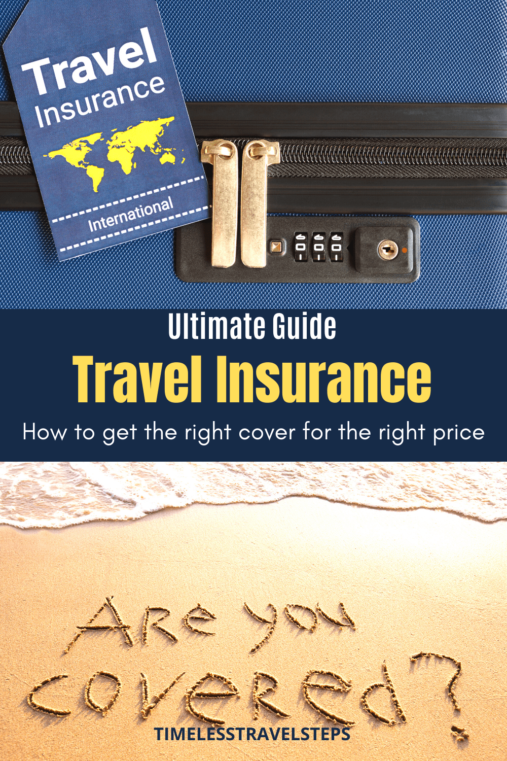A complete guide to Travel Insurance. Everything you need to know about the 13 reasons why you should + Type of cover for you + What makes a good travel policy + How to get the right cover for the right price! This post includes resources and links. | Travel resource | Are you covered? | How to find a good travel insurance provider | Factors to consider when buying travel insurance | Travel insurance via @GGeorgina_mytimelessfootsteps/