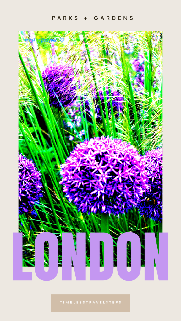 Tours of Parks and gardens of London