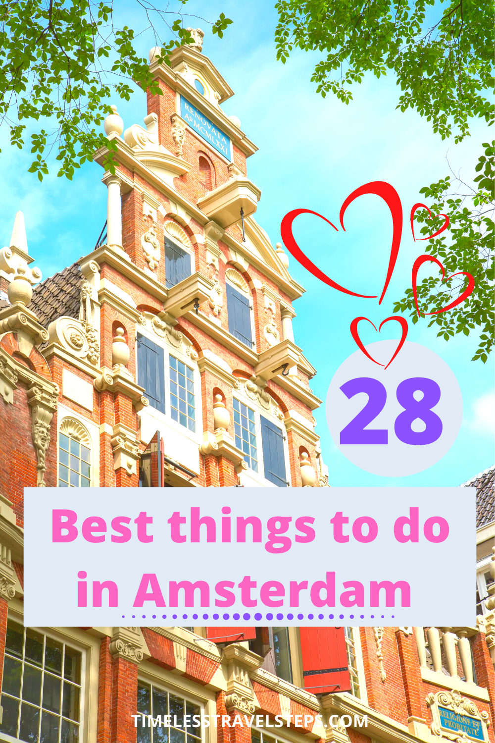 Amsterdam is a city that will have you with no time to be bored - whether its a weekend or a few days, this is your ultimate guide on unmissable 28 best things to do in Amsterdam for timeless memories of this historic and elegant city | Epic things to do in Amsterdam | Best things to do in Amsterdam | Visit Amsterdam | Amsterdam on a weekend | 3 days in Amsterdam | What to do in Amsterdam | Amazing things to do in Amsterdam | Fun things to do in Amsterdam | Quirky things to do in Amsterdam. via @GGeorgina_timelesstravelsteps/