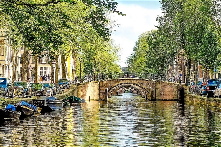 bridges and canals in Amsterdam