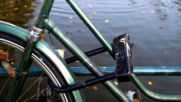 cycling in Amsterdam | cycle locks