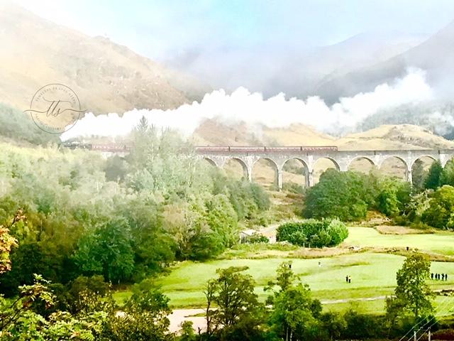 West Highland Jacobite Steam Train on Glenfinnan Viaduct