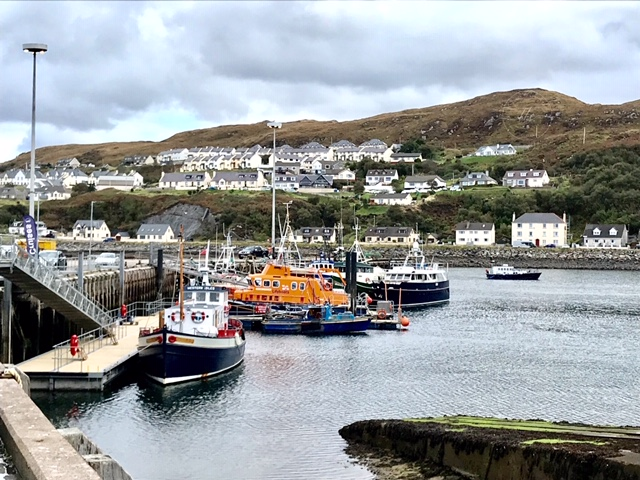 harbour view of the fishing port of Mallaig The Highland