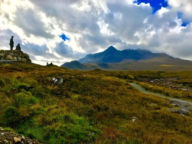 Mackenzie Collie monument Sligachan  Isle of Skye