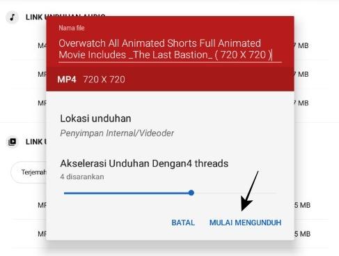 Ubah Nama File dan Unduh File Video