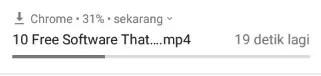 Video YouTube Sedang Di Download