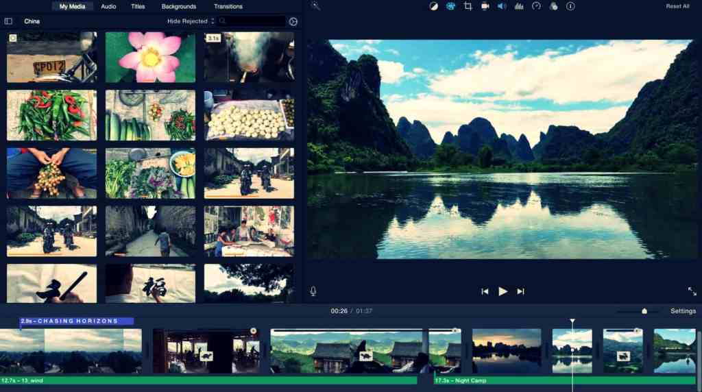 Video Editor Software - Apple iMovie