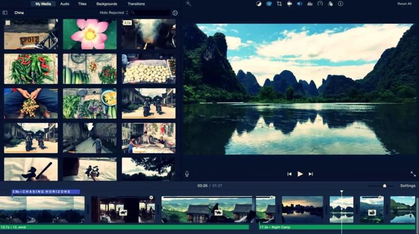 Video Editor Software - Apple iMovie