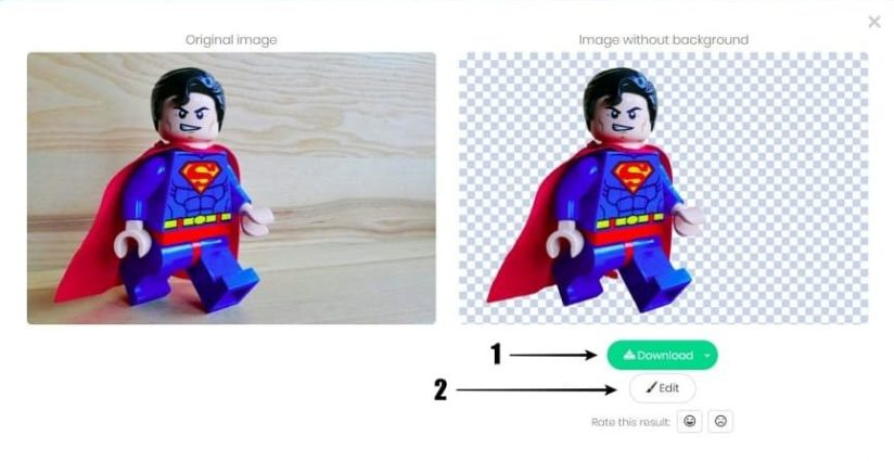 Hasil Hapus Background Foto Superman