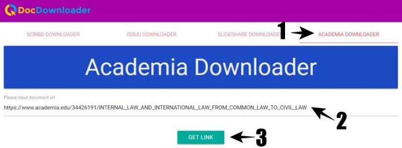 Paste Link Academia di DocDownloader