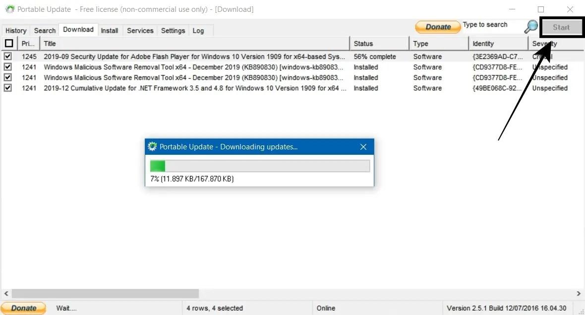 Download Tab Untuk Unduh File Update Windows 10