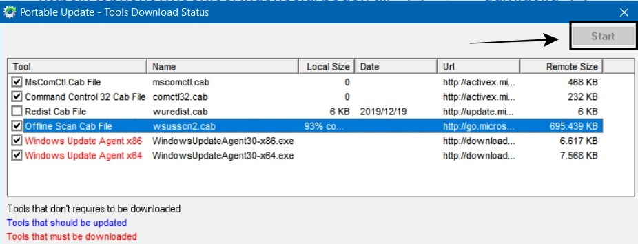 Portable Update Windows 10