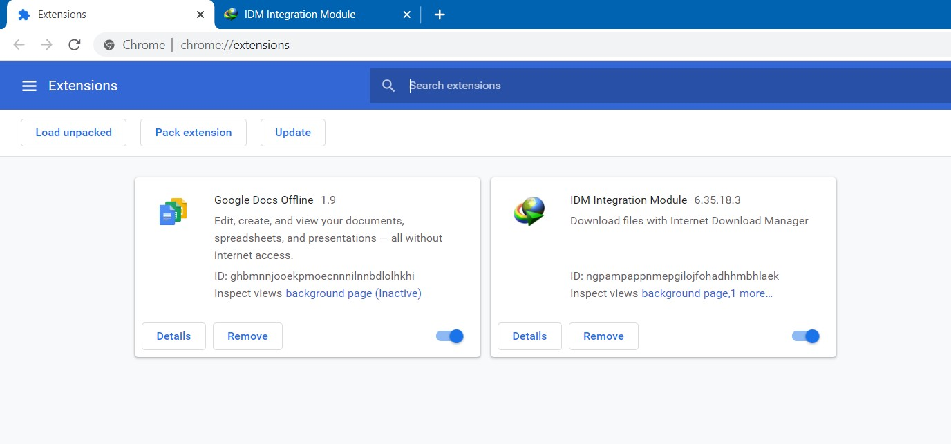 Ekstensi IDM Berhasil Dipasang di Google Chrome