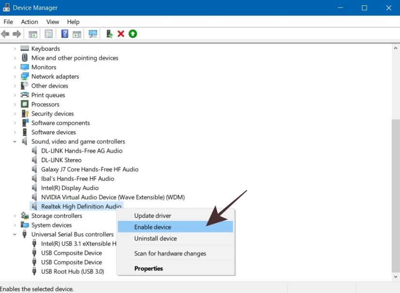 Enable Sound Card untuk Microphone Windows 10