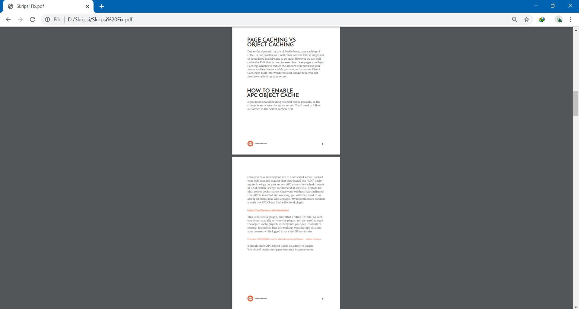 File PDF akan Terbuka di Browser Google Chrome