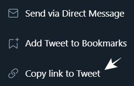 Pilih Copy Link to Tweet