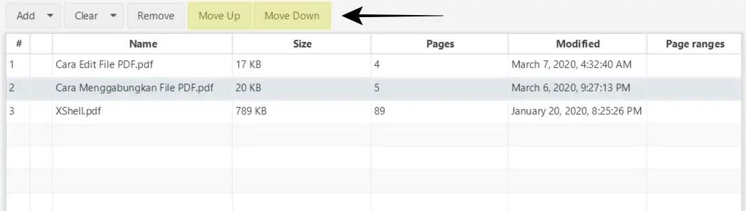 Atur Urutan PDF