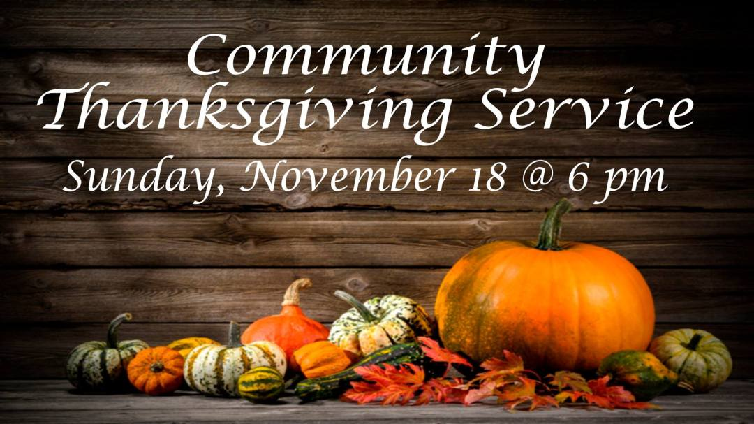 Community Thanksgiving Service 1