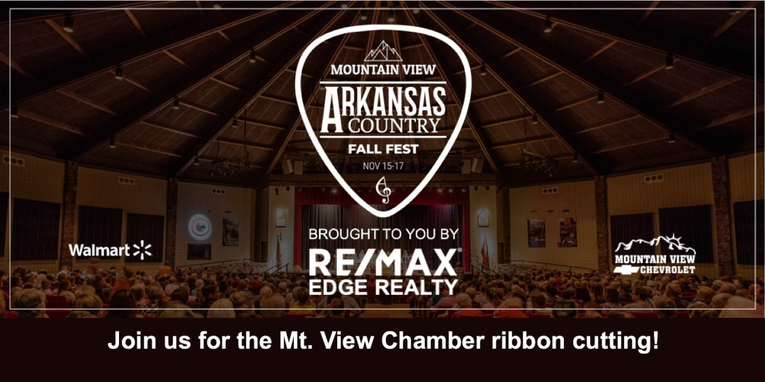 Mtn. View Ribbon Cutting for Arkansas Country Fall Fest! 1