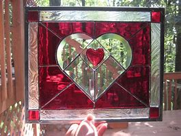 Stained Glass Class- Swedish Heart 1