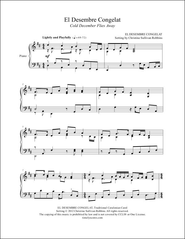 El Desembre Congelat Piano Sheet Music