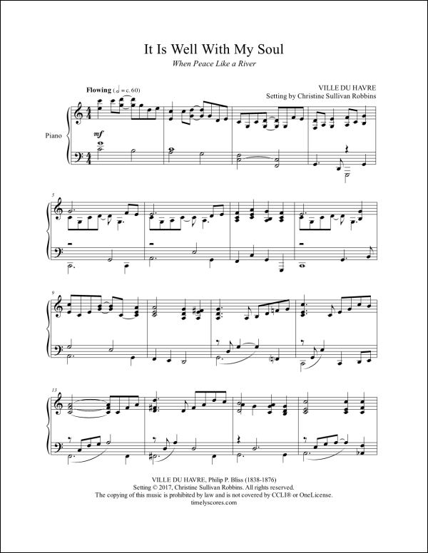 It Is Well with My Soul Piano Sheet Music