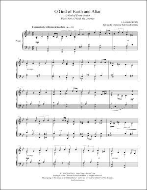 O God of Earth and Altar Piano Sheet Music
