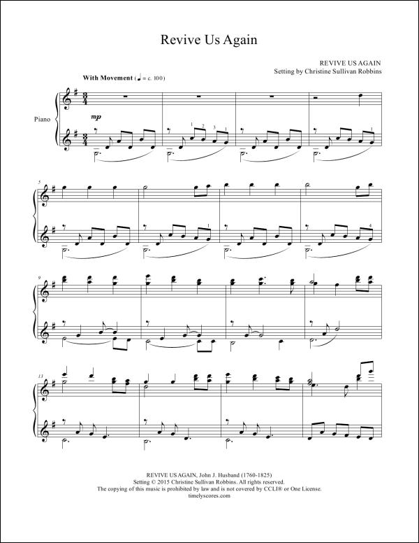 Revive Us Again Piano Sheet Music