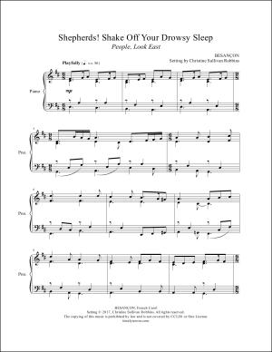 Shepherds Shake Off Your Drowsy Sleep (People Look East) Piano Sheet Music