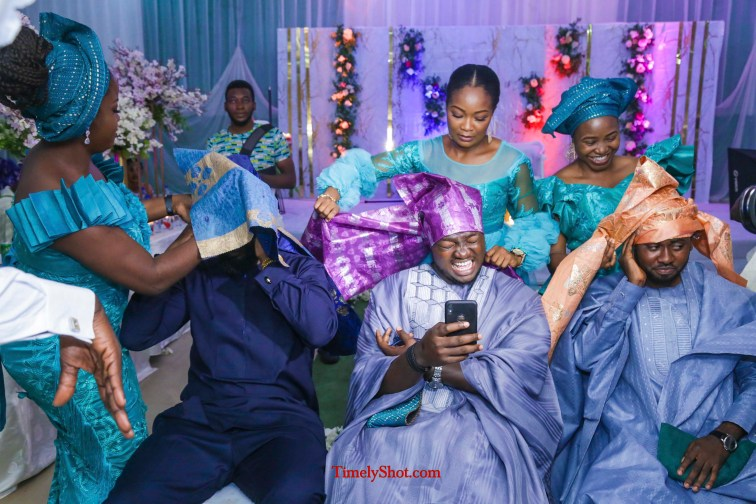 Fun moments at a wedding reception