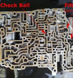 toyota a541e valve body check ball and vibrating stopper 4l60e accumulator diagram 1996 4l60e valve body [ 1280 x 960 Pixel ]