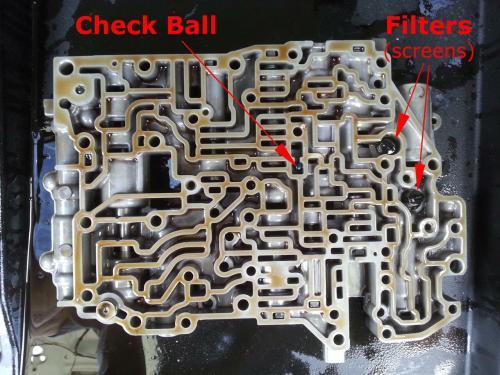 small resolution of toyota a541e valve body check ball and vibrating stopper 4l60e accumulator diagram 1996 4l60e valve body