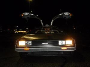 That up close upper front of the DeLorean shot that you always have to take.