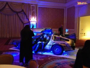 Lighting the DeLorean Time Machine can be a lot of fun for event planners.