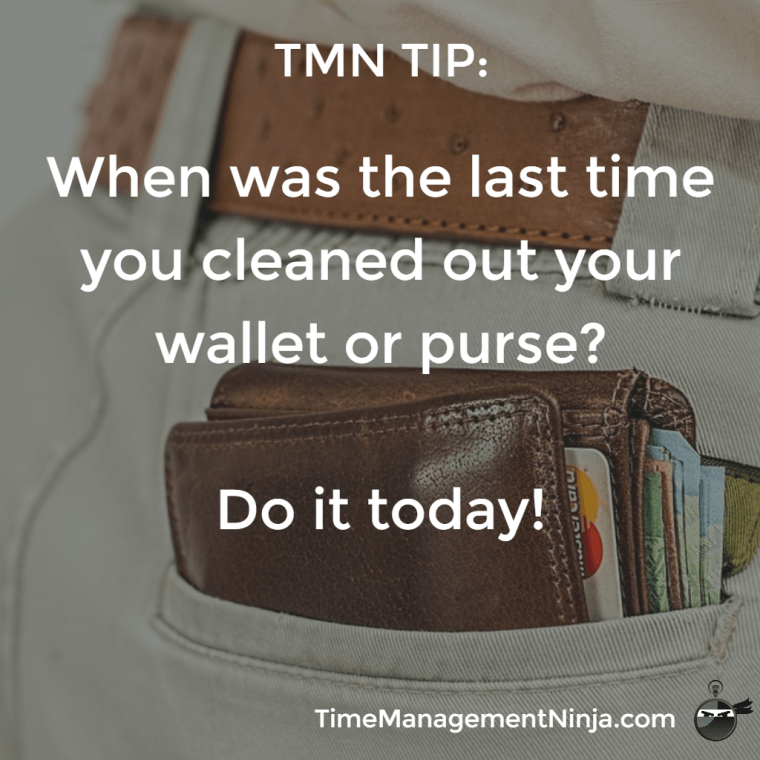 Clean Out Your Wallet