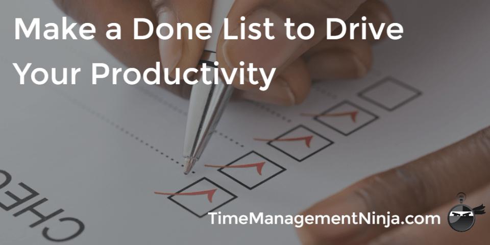 Make a Done List