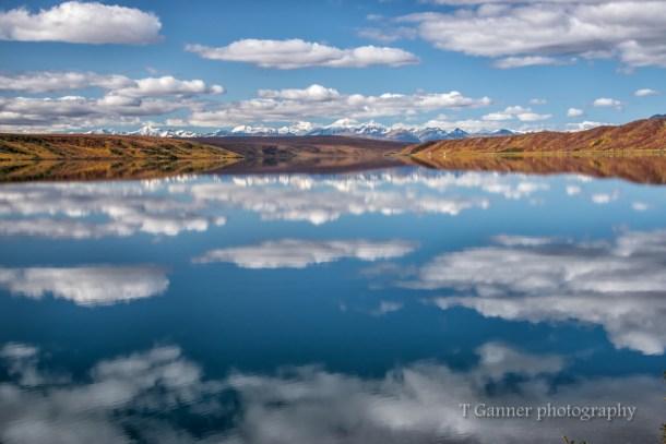 Alaska, autumn, foliage, Richardson Highway, Summit Lake, reflection