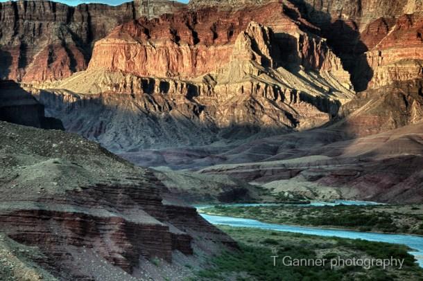 Grand Canyon, Colorado River, rafting, Cardenas, alpenglow