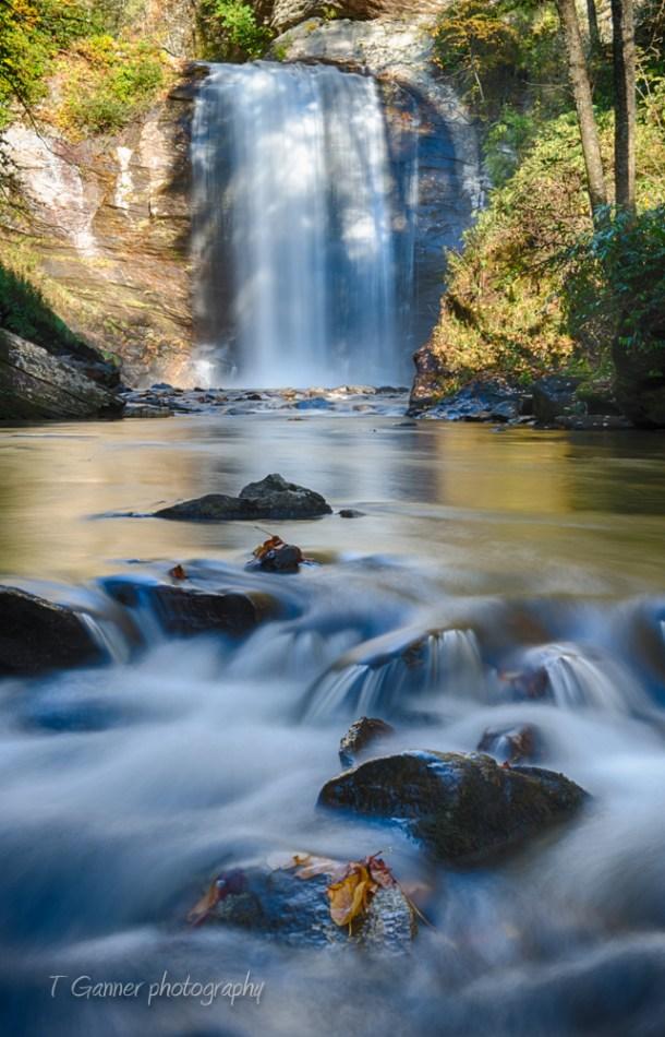 North Carolina, Brevard, Connestee Falls, autumn, foliage, Looking Glass Falls; Pisgah National Forest, North Carolina Autumn