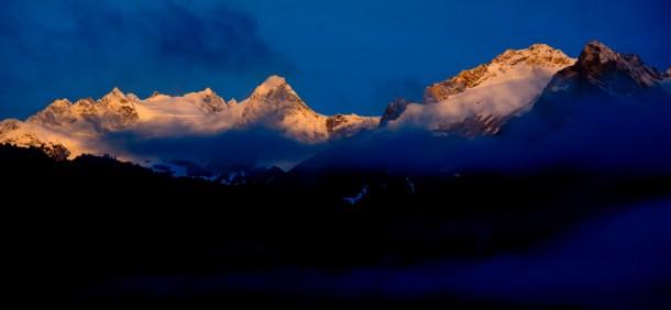 Haines Alaska, Chilkat Range, alpenglow