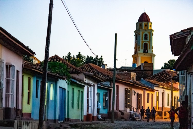 Multicolored architecture in Trinidad Cuba
